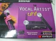 Микрофон SHURE SM58 -VOCAL ARTIST.радиосистема 2 микрофона.КЕЙС.