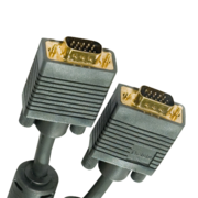 Кабель VGA/SVGA вилка - VGA/SVGA вилка с ф/фильтрами,  длина 1.8 м.