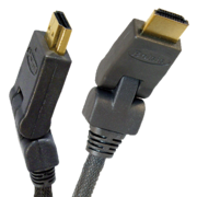 Кабель HDMI с поворотными разъемами,  HDMI вилка - HDMI вилка,  длина 1,
