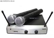 микрофон SHURE UT42/SM58 радиосистема.2 микрофона.магазин.МОСКВА