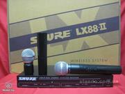 микрофон SHURE LX88-II радиосистема 2 микрофона SHURE SM58.МАГАЗИН.