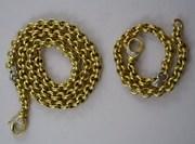 очень благородный набор,  браслет и колье золото алмазы