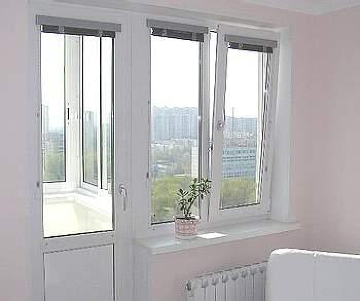Окно с балконной дверью фото