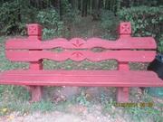 Лавочки и скамейки,  материал дерево,  с резным рисунком