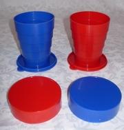 Складные стаканчики под ваш логотип оптом от 100штук