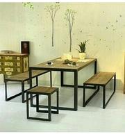 Столы,  стулья,  вешалки в стиле лофт,  ручная работа.