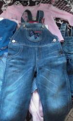 Продам джинсовые вещи б/у девочку на 1-2 года