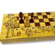Шахматы Рыцари дерево 50 см. покупайте в Магазине БВУ и Будет Вам Удача