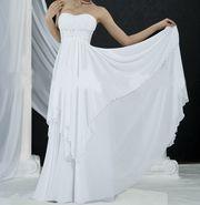 Платье А-силуэт,  со шлейфом