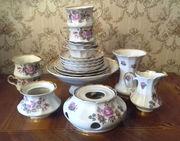 Фарфоровый чайный сервиз с аромолампой
