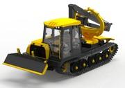 ЛП-18К (МТБ-18) Трактор трелевочный бесчокерный гусеничный
