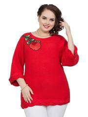 Мягкий теплый свитер Роза