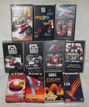 Видеокассеты VHS: Формула-1 и др. гонки