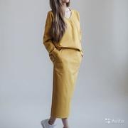 Сарафан-юбка с бретелями+Свитшот оверсайз
