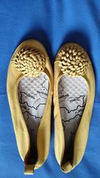 Туфли-балетки кожаные женские