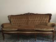 винтажный диван и два кресла Италия